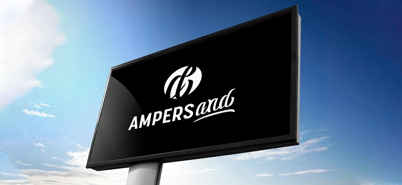 Ampersand mainostaulu
